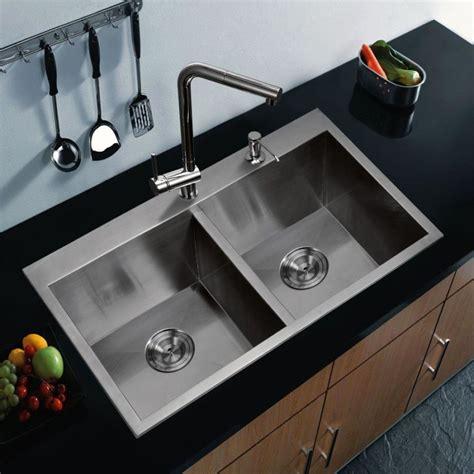 sink kitchen stainless steel modern double designs bowl mount zero radius attract attention creation water