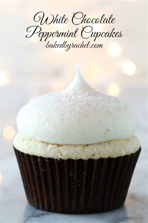 white chocolate peppermint cupcakes baked  rachel