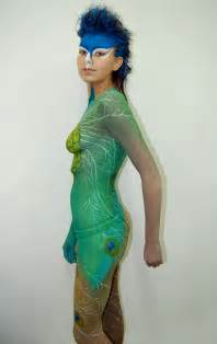 Peacock Body Paint