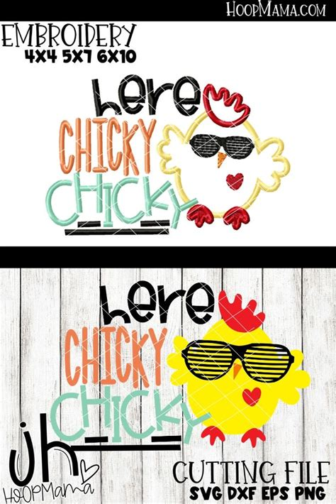 chicky chicky embroidery  cutting options hoopmama