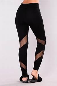 Strength Mesh Leggings - Black