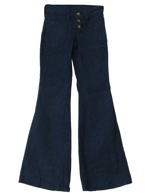 bellbottom pants   label womens denim blue