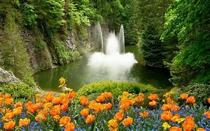Fountain Wallpapers Spring Resolution Desktop Nature Res