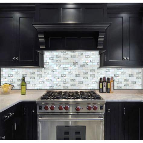 brick mosaic backsplash tst glass metal tile iridescent white glass silver mirror stainless steel blends interlocking
