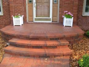 front entrance steps brick pavers canton plymouth northville novi michigan repair cleaning sealing