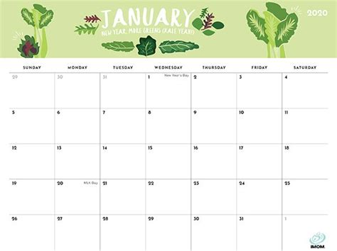 foodie printable calendars  moms imom