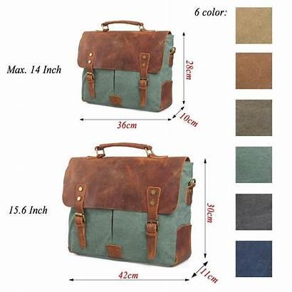 Messenger Bag Leather Laptop Estarer Canvas Womens