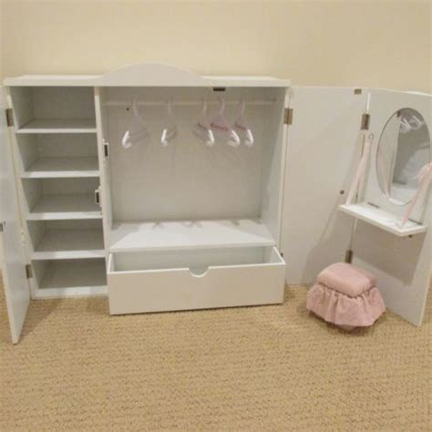 Our Generation Doll Closet by Our Generation Wardrobe Vanity Closet Armoire Trunk For