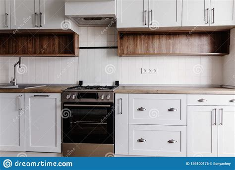 muebles modernos de lujo de la cocina en color gris