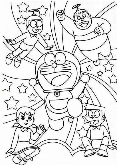 Nobita Doraemon Coloring Shizuka Suneo Pages Giant