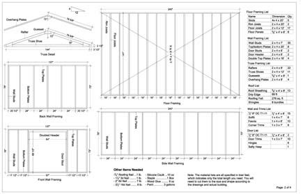 12x20 gable storage shed plans buy it now get it fast ebay