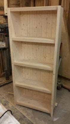 diy wood plank bookshelf pine boards plans  ana white