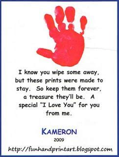 fun easy handprint art   poem  images