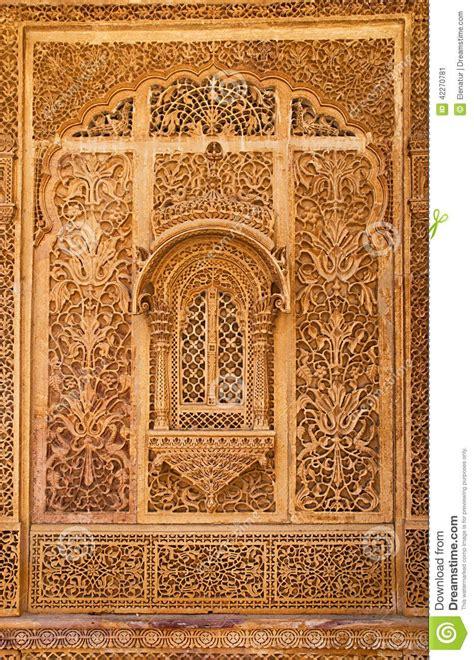 carved window  mandir palace jaisalmer rajasthan india stock photo image