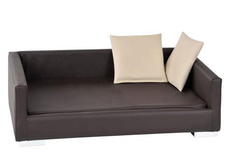 chien canapé canapé pour chien lucky gr marron beige panier et corbeille
