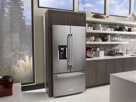 Kitchenaid Large Refrigerator by The Big Three Door Fridge By Kitchenaid Home Appliances