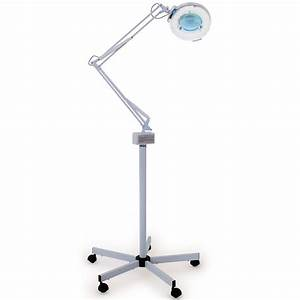 esthology facial magnifying lamp 5 diopter with rolling With floor stand for magnifying lamp