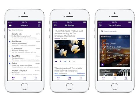 yahoo mail app for iphone yahoo mail app for iphone and ipod touch reved with