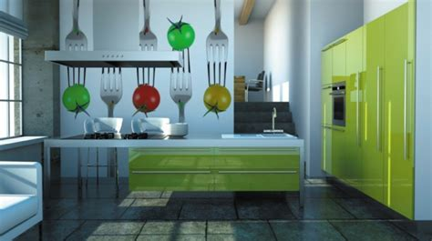 tapisserie de cuisine moderne le papier peint de cuisine vous recouvre d 39 une fraîcheur