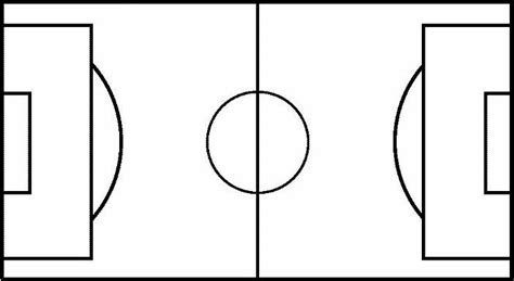 Blank Football Field Template by Blank Football Pitch Outline Clipart Best