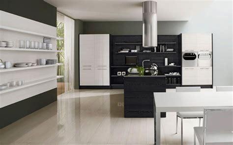 diseno minimalista de una cocina en blanco  negro por