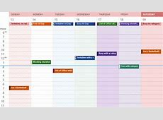 Best Photos of 2013 Weekly Calendar With Hours Weekly