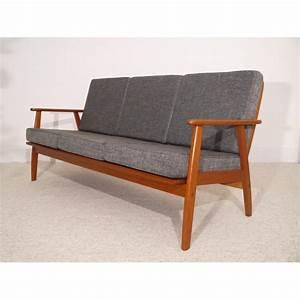 Canapé Scandinave Vintage : canape vintage scandinave design danois teck gris la ~ Melissatoandfro.com Idées de Décoration