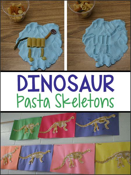 dinosaur theme preschool activities dinosaur pasta skeletons prekinders 114