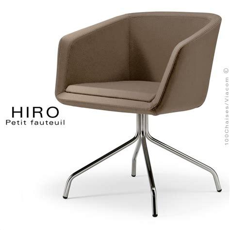 fauteuil design confortable hiro pieds 4 branches acier