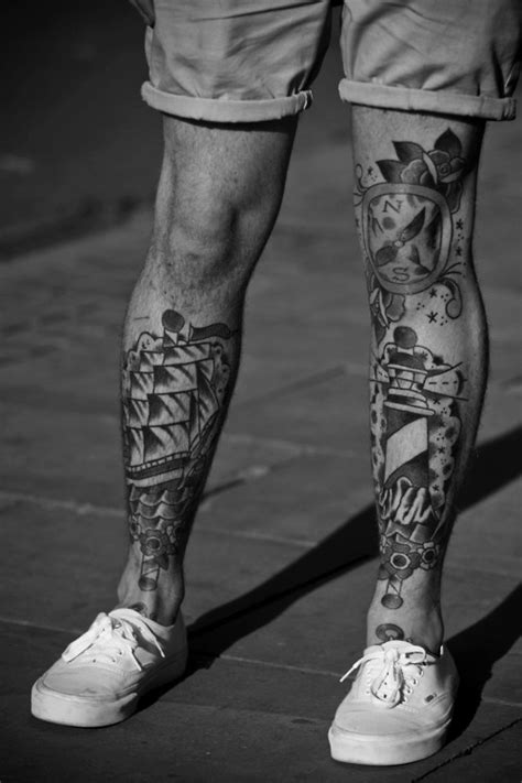 32+ Beautiful Leg Tattoos