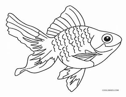 Fish Coloring Printable Goldfish Realistic Cool2bkids Sheet
