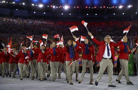 historic olympic games  team singapore singapore