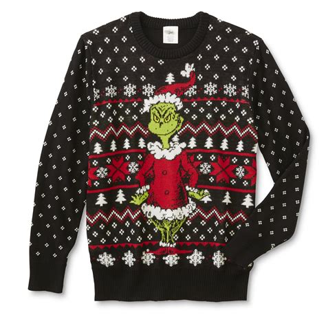 grinch young men s ugly christmas sweater