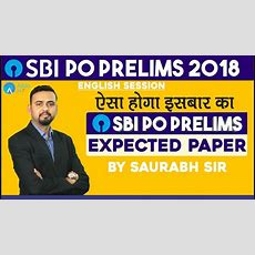 Sbi Po Pre  Expected Paper For Sbi Po Pre 2018 English  Saurabh Sir Youtube