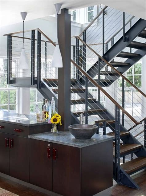 steel staircase design 10 steel staircase designs sleek durable and strong 2506