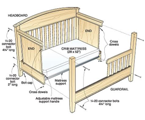 build baby crib plans  plans