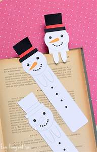 Printable Snowman Bookmarks - Easy Peasy and Fun