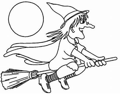 Coloring Witch Pages Preschool Printable Easy