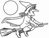 Coloring Witch Preschool Printable sketch template