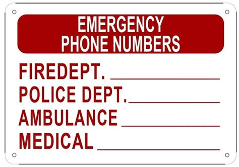 fdny phone number fdny sign emergency phone numbers sign aluminum nyc sign