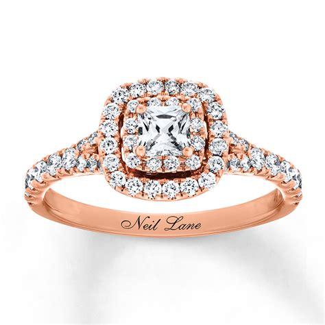 neil lane engagement ring 1 ct tw 14k rose gold