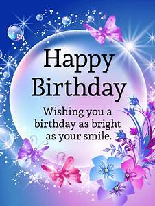 Day Card Online Shining Bubble Happy Birthday Card Birthday Greeting