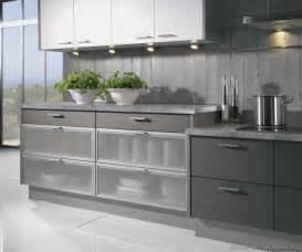Modern Kitchen Cabinets with Glass Front