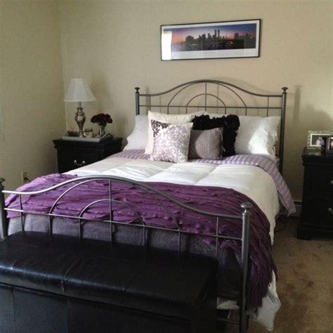 simple purple  grey bedroom ideas greenvirals style