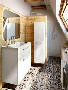 carreaux de ciment et bois les allies deco pour refaire With materiaux pour salle de bain