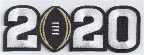 2020 College Football Playoff National Championship Patch ...