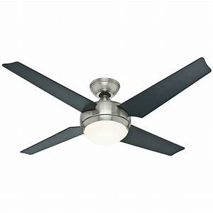 Hunter 52 U0026quot  Sonic  U0026quot Brushed Nickel U0026quot  Finish Ceiling Fan W