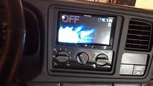 1999-2002 Chevy Silverado Double Din Installation Pioneer Bluetooth Touchscreen