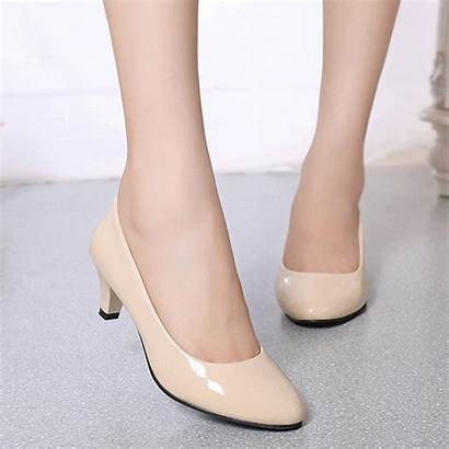 Shoes Low Heel Office Pumps Ladies Party
