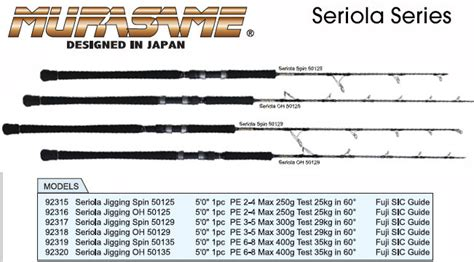 murasame rods  products  fishing